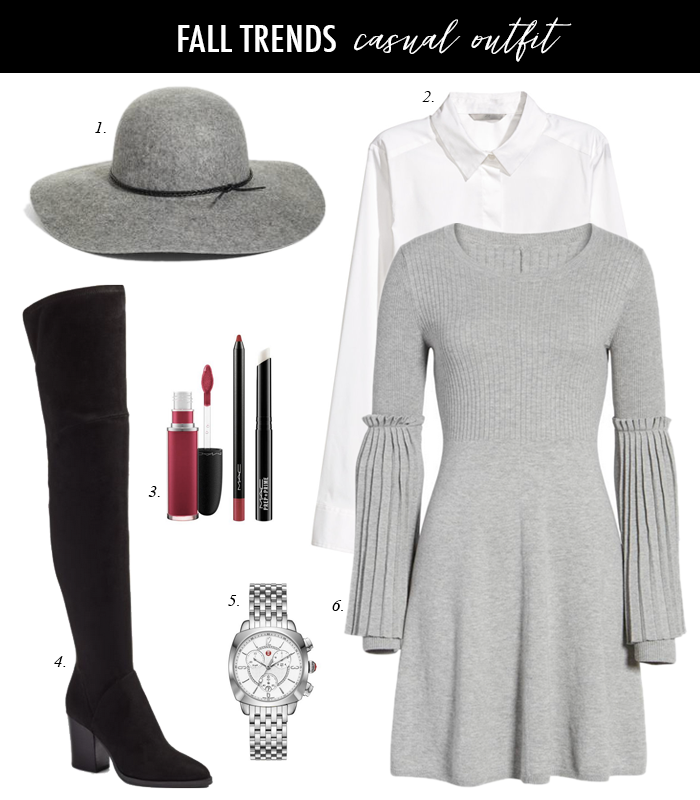 over the knee boots sweater dress