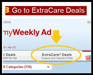 3. Go to ExtraCare Deals.