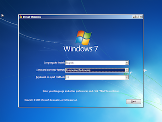 Memilih bahasa Windows 7