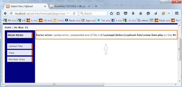 Cara Mengatasi Parse Error Syntax PHP