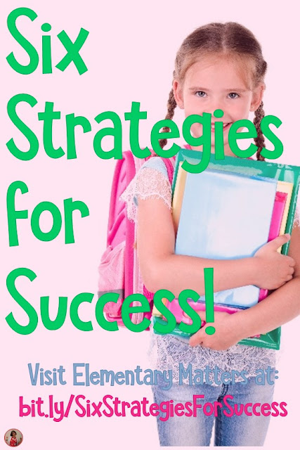 6 Strategies for Success in School: after a difficult year, I developed these strategies to share with my new students to help build a classroom community!