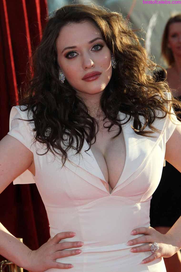 Kat Dennings Huge Cleavage Show ~ Hot Actress Sexy Pics