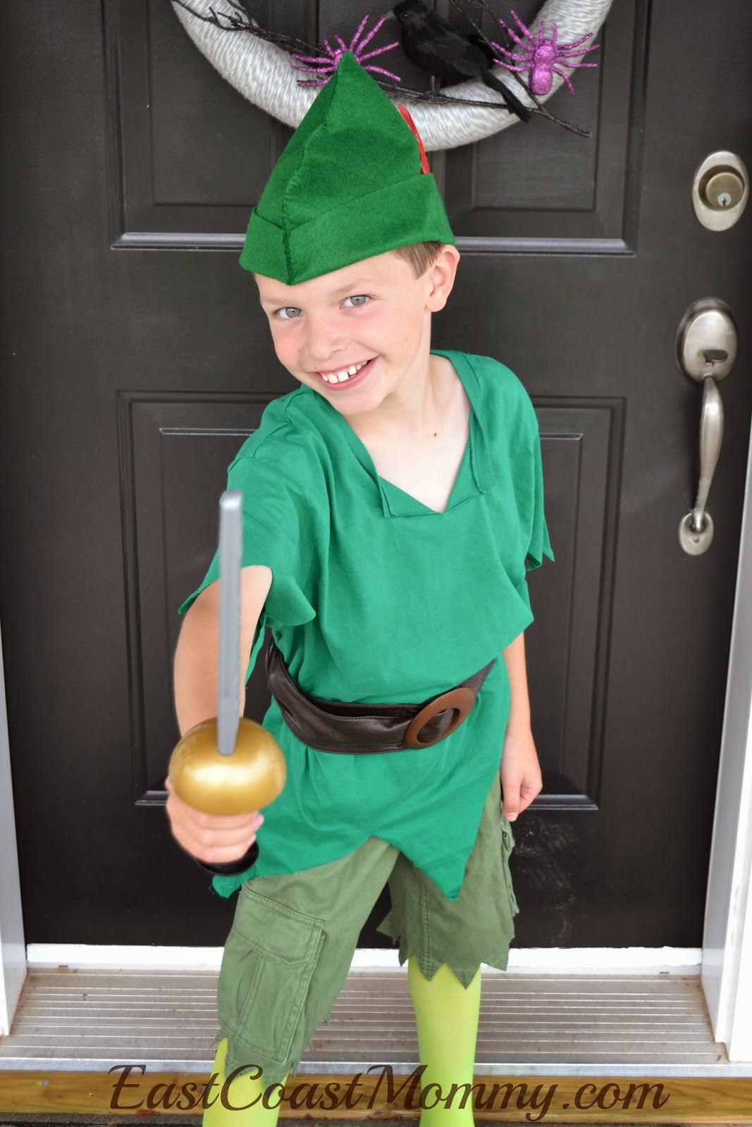 East coast mommy diy peter pan costume for 9 year old boy halloween costume ideas