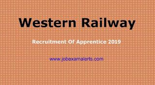 Western Railway Recruitment of Apprentice 2019