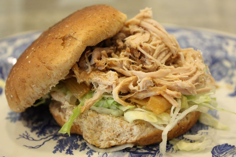 pass the peas, please: carolina-style pulled pork sandwiches