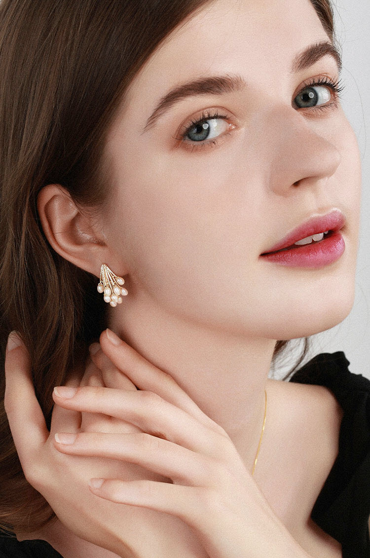 豐收復古風擬珍珠耳環
