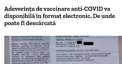 de unde se descarca adeverinta de vaccinare covid 19 pdf electronic