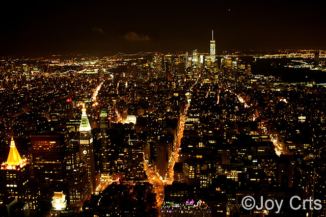 Empire Stade Building : vue de nuit New York