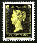 Canvey island 'Penny Black' stamp