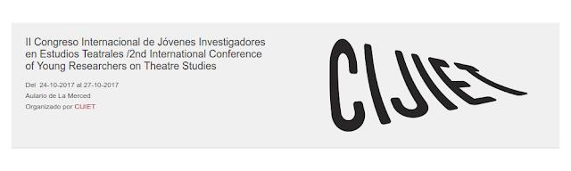 II Congreso Internacional de Jóvenes Investigadores en Estudios Teatrales.
