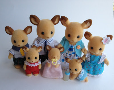 Sylvanian Families Buckley Red Deer Family Babies
