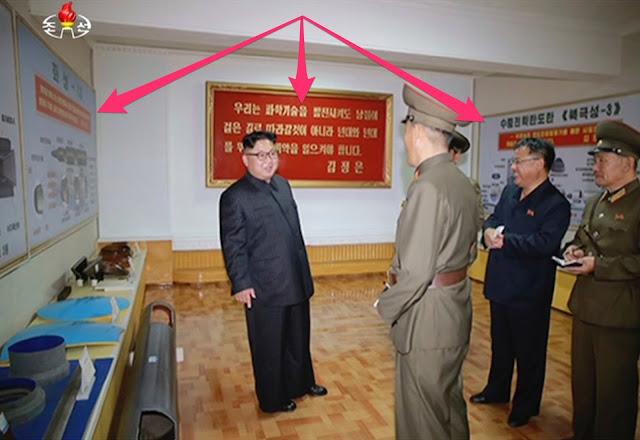 A mídia estatal da Coreia do Norte divulgou fotos que parecem mostrar os projetos de um ou possivelmente dois novos mísseis.