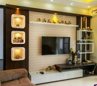 Best 40 modern TV wall units wooden tv cabinets designs for living room interior 2020