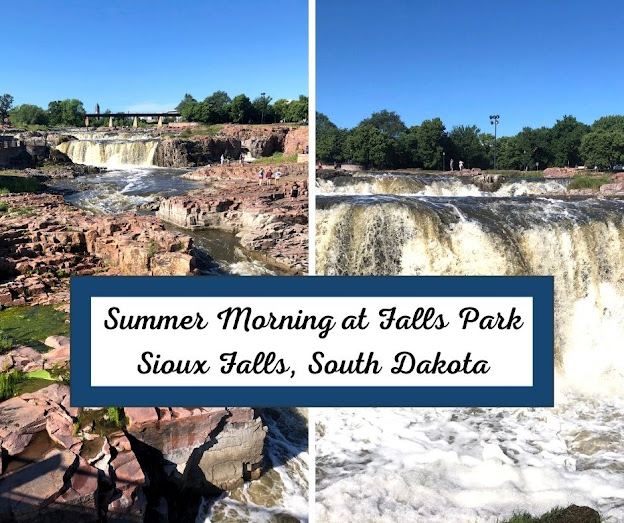 Summer Morning Rush at Falls Park in Sioux Falls Crafts a Splendid Start to the Day