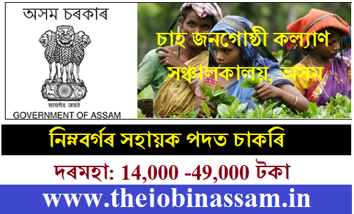 Tea Tribe Welfare Department Recruitment 2019@EWS Candidates