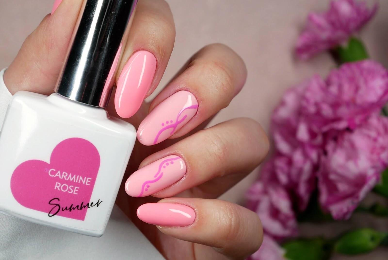 Różowe paznokcie hybrydowe | nowości od Follynail