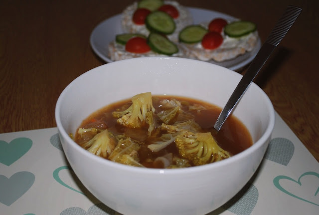Chinese-style vegetable soup - low calorie, gluten free, vegan friendly
