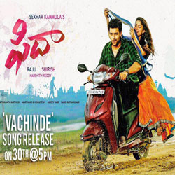 Fida (2017) Telugu Movie Audio CD Front Covers, Posters, Pictures, Pics, Images, Photos, Wallpapers