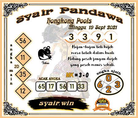 Syair Pandawa HK Minggu 19-09-2021