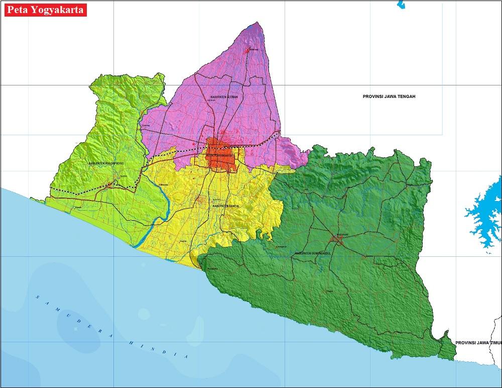 Peta Yogyakarta HD Lengkap