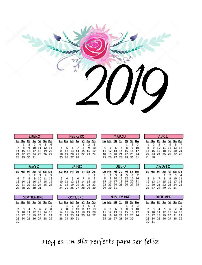Mimajo Digital Calendario 2019 Vintage Con Piñas Cactus Y