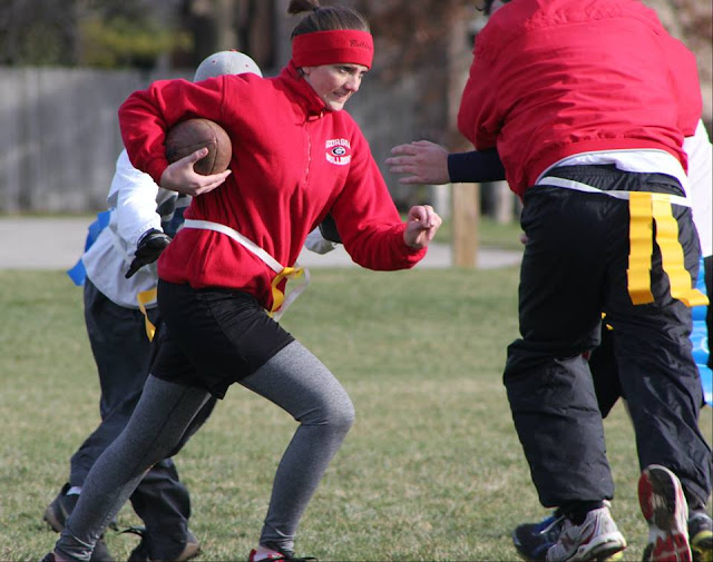 Flag football is another great way to enjoy the outdoors in the fall