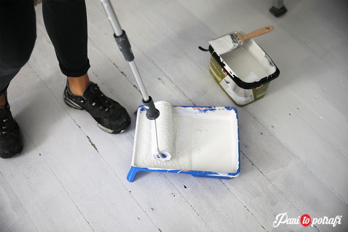 jak pomalować starą podłogę