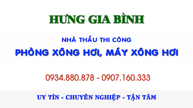 Thi công phòng xông hơi, lắp đặt máy xông hơi tại Đà Nẵng, Hội An, Quảng Nam