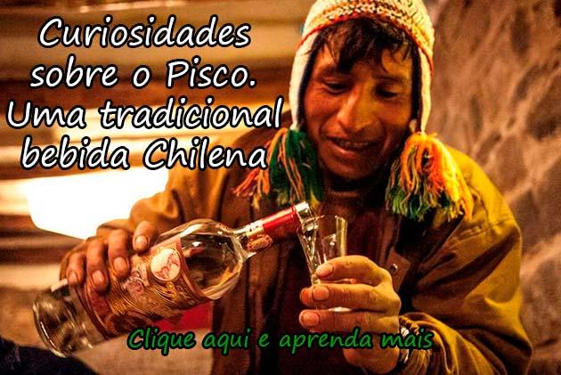 CURIOSIDADES SOBRE O PISCO. UMA TRADICIONAL BEBIDA CHILENA