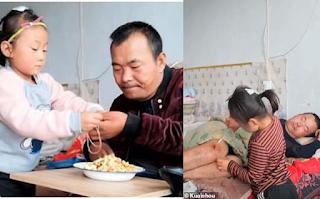 6χρονη φροντίζει μόνη της τον παράλυτο πατέρα της από τότε που τους εγκατέλειψε η μητέρα της