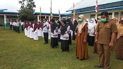 Meski Sederhana, Upacara HUT Ke-76 RI Di Kecamatan Samatiga Berlangsung Khidmat