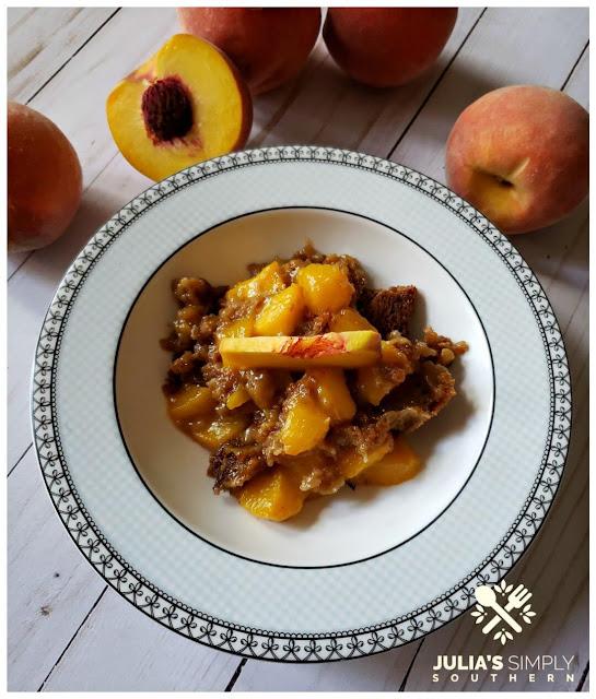 #cookingfromscratch, #recipes, Diabetic Fresh Peach Cobbler