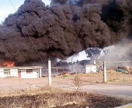 Humo y fuego en Toluca