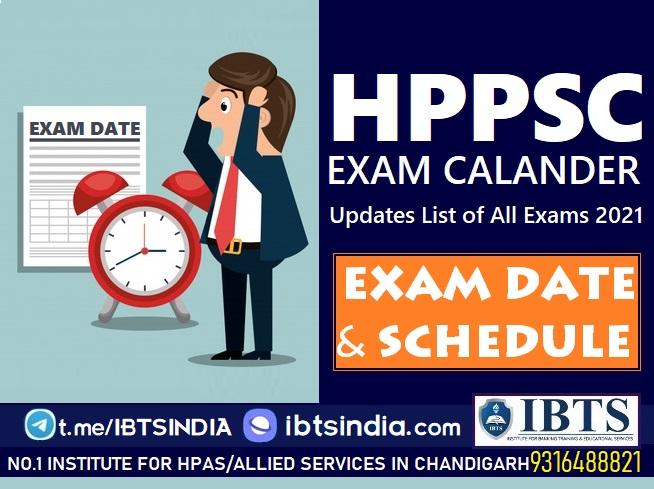 HPPSC Exam Dates & Schedule 2021 HPPSC Exam Calendar 2021 Updated