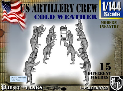 1-144 US Artillery Crew Cold Weather picture 1