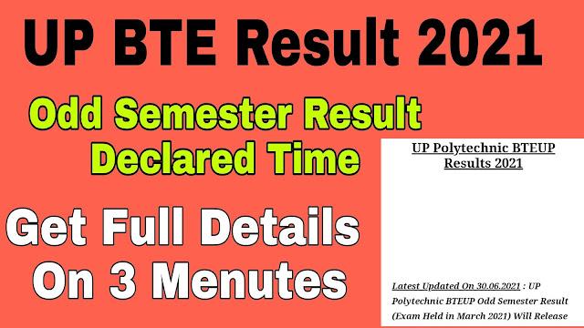 UPBTE Result, BTEUP Result 2021