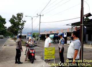 Polsek Cingambul Bersama TNI dan Satpol PP Gelar Operasi Yustisi Sasar Pengguna Jalan