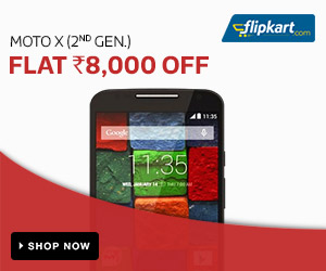 Moto X (2nd gen.) - Flat Rs. 8000 off