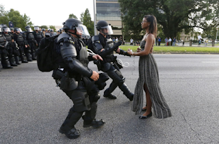 The Pa. Woman Whose Photo Went Viral In Baton Rouge Protest