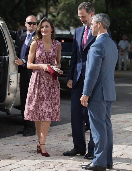 San Antonio city of Texas state, celebrates 300th anniversary of its establishment. Mayor Ron Nirenberg. Queen Letizia wore LODI pumps