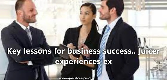 Key lessons for business success