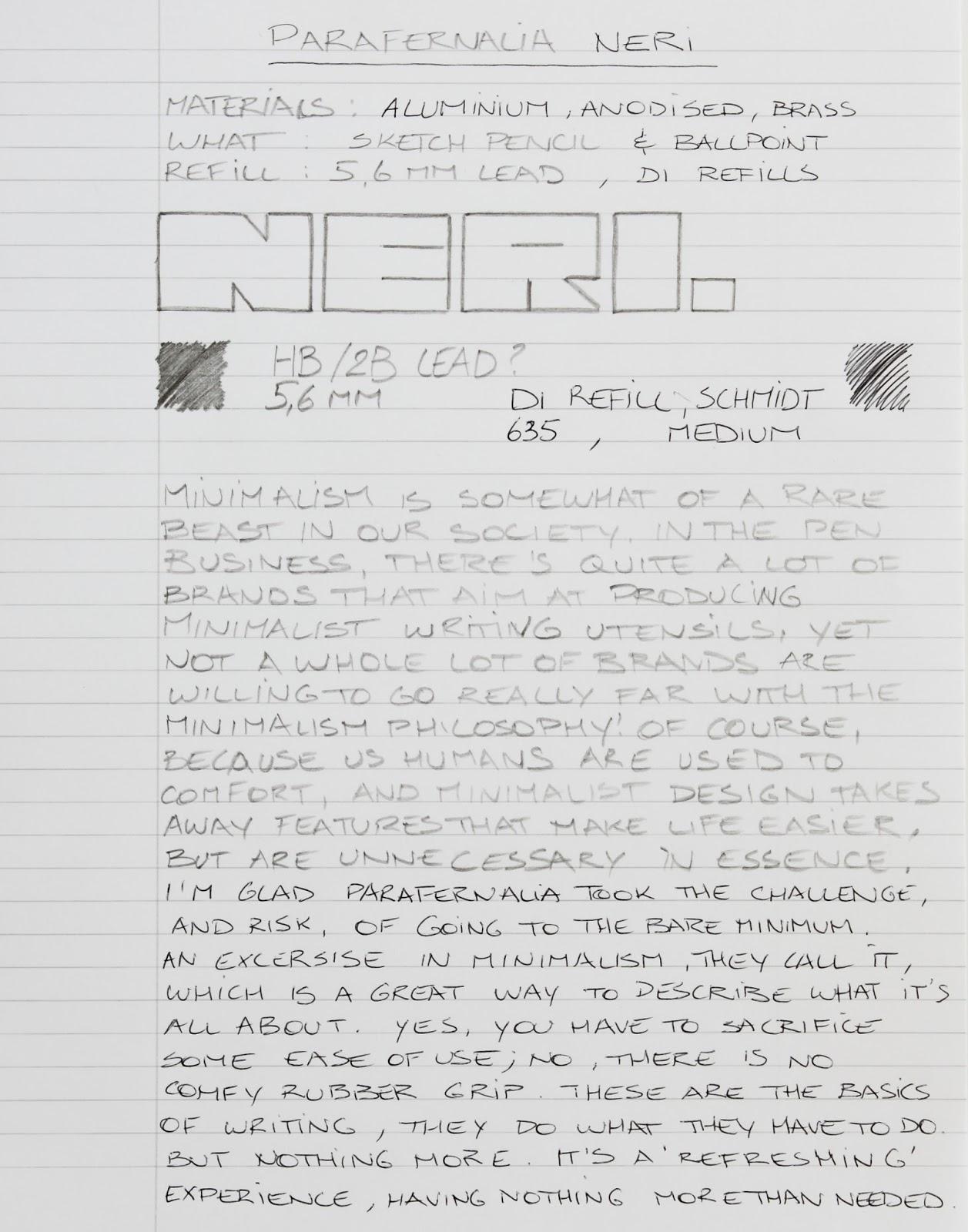 New In Box Italy Parafernalia Neri Anodized Black Ballpoint Pen