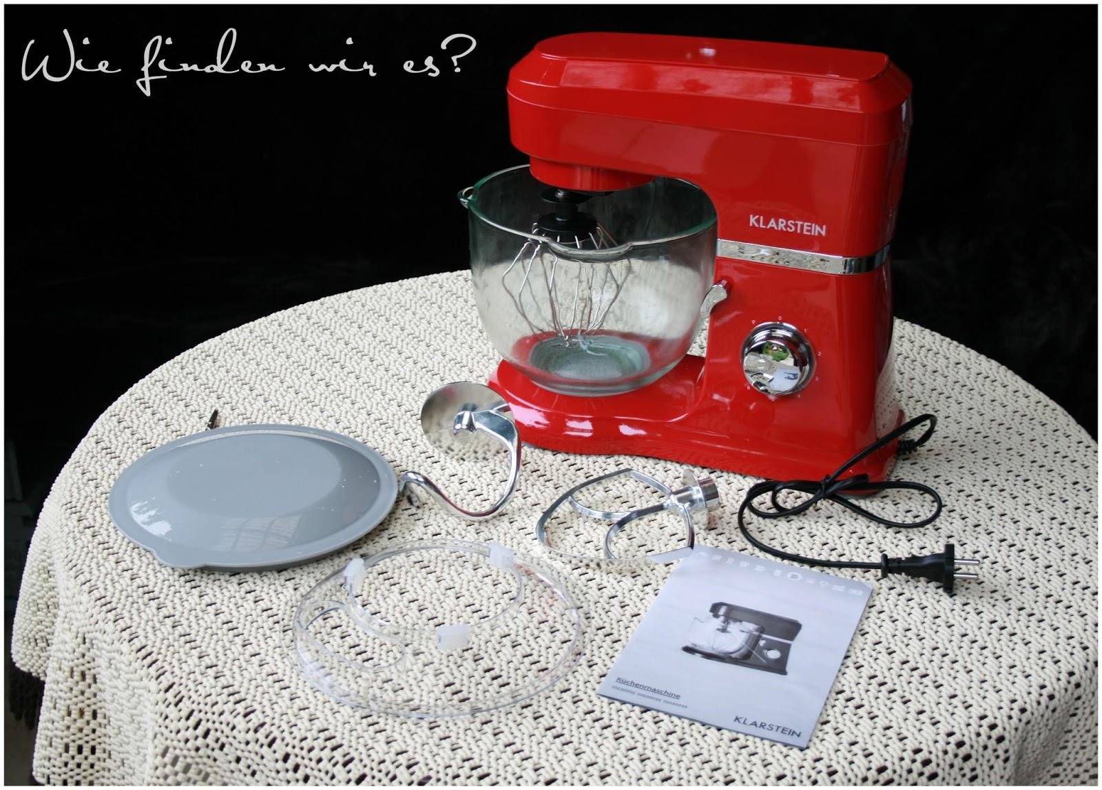 Küchenmaschine Mit Glasschüssel : klarstein allegra rossa k chenmaschine im test mit rezepte ~ Cokemachineaccidents.com Haus und Dekorationen