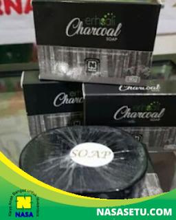 ERHSALI Charcoal Soap Pemutih Wajah Herbal Alami