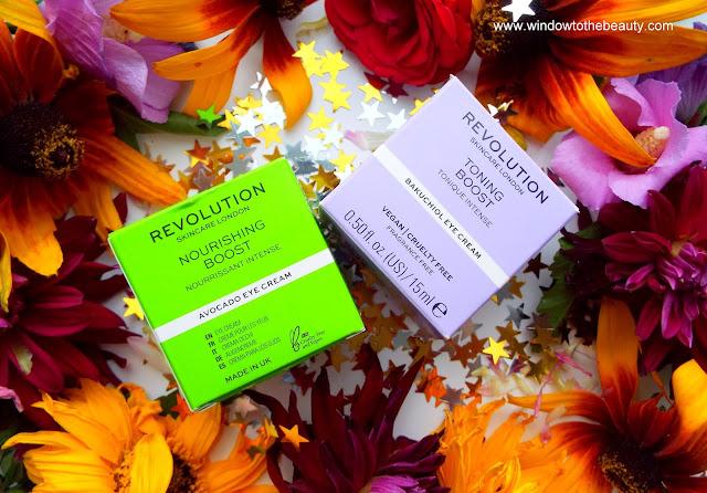 comparison of Revolution Skincare Nourishing Avocado Eye Cream vs Firming Bakuchiol Eye Cream