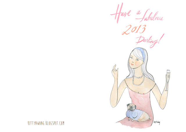 free printable 2013 new years card
