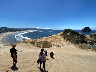 View from Cape Kiwanda dune.