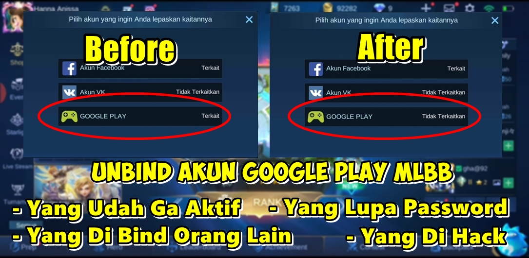cara unbind akun google play mobile