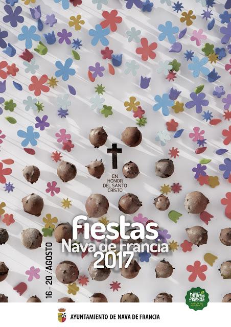 cartel fiestas nava de francia 2017 juan jose díaz len