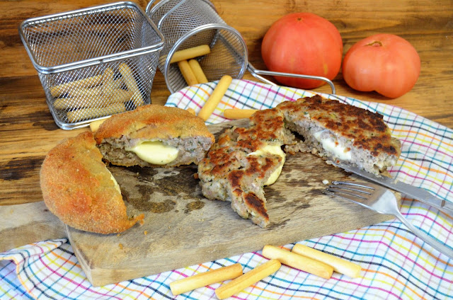 hamburguesas, hamburguesas americanas, hamburguesas caseras, hamburguesas empanadas, hamburguesas recetas, hamburguesas rellenas de queso, hamburguesas rellenas de queso empanadas, recetas de hamburguesas, las delicias de mayte,